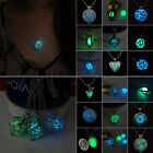 luminous Steampunk Cute Magic Fairy Locket Glow In The Dark Pendant Necklace