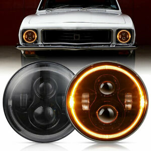 Pair Amber Halo LED Headlight For Holden Torana GTR XU1 A9X LH LX LC LJ SLR5000