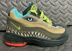 Nike Air Max 95 TD Monster Green Cyber Size 6C CI9945-300 Dinosaur Toddler Shoes