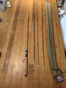 VINTAGE HORROCKS-IBBOTSON Black River 4- pcs 8 1/2 ft Combo SPLIT-BAMBOO FLY ROD
