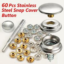 20 SET 3/8'' Boat Marine Cover Canvas Canopy Snap Fastener Sockets Screw & Tools