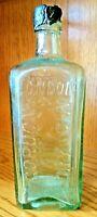 "Vintage glass Cordons London Dry Gin bottle 9"""
