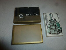 VINTAGE HAMILTON GILDED EDGES CARD PLAYING CARDS GAME SET CONGRESS SEALED NEW >>