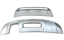 2012-2015 For Audi Q3 Front&rear Bumpers Skid Protector Molding Cover Steel 2pcs