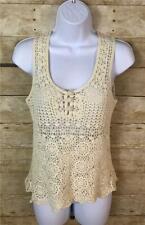 Robert Rodriguez Ivory Crochet Knit Tank Top Size S