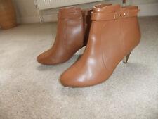 Ladies Next Tan Faux  Leather Ankle Boots ~ Size 6uk/39eur