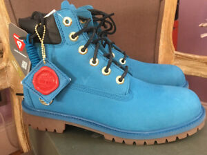 """Timerland 6"""" premium boots youth 6.5 / Eur 39 / women 9 /9.5 Blue, new"""