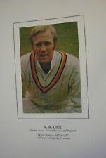 Cricket Memorabilia  A signed colour photograph of Tony Greig