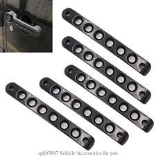 Black Car Door Handle Accessory Mount Aluminum Trim Fit JEEP Wrangler JK 2007-18