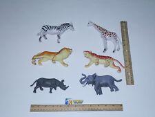 6 pic Assorted  Animal Kingdom , Lion,Tiger, Elephant,Giraffe, Zebra