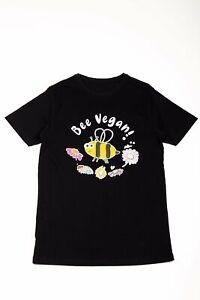 'Bee Vegan' (Male) T-Shirt - Organic Sustainable Clothing Gift