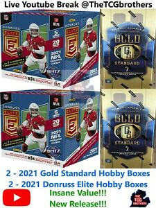 Washington Redskins Break 654B Gold Standard Donruss Elite Hobby Box 2021