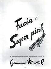 ▬► PUBLICITE ADVERTISING AD Rouge à lèvres Germaine MONTEIL fucia super pink 60
