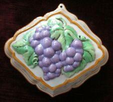Franklin Mint Le Cordon Bleu Grape Jelly Mould 1986 with Recipe Card