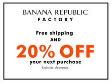 Banana Republic Factory 20% off + FREE shipping (Exp 12/17/2020)
