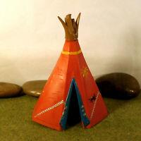 Original Hausser Elastolin 5,6cm Steckfiguren Zubehör Indianer Zelt