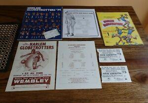 Vintage Harlem GlobeTrotters Programs,Tickets,WILT CHAMBERLAIN 1953,1958-59,1974