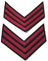 CIVIL WAR US UNION SARGENT RANK CHEVRONS-ARTILLERY