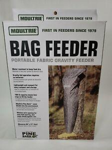 🦌 Moultrie Portable Deer  Feeding Bait Bag Feeder Pine Bark Camo 100 lbs 🦌