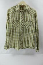 Ariat Mens Western Shirt Long Sleeve pearl snap button down Size Medium