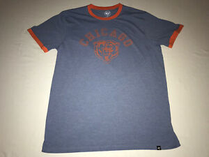 NFL Men's Chicago Bears Vintage Inspired Logo Soft Cotton T-Shirt by '47 Size L