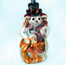 Radko Disney Winter Pluto Ornament 1999 Mickey Chip N Dale Snowman MintTagBox