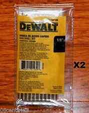 """2-10 Packs Dewalt 1/8"""" X 2¾"""" HSS Gold Ferrous Pilot Point Drill Bits (DW170018B)"""