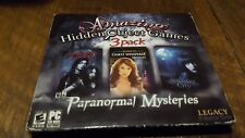 NEW PC LEGACY INTERACTIVE PARANORMAL AMAZING HIDDEN OBJECT GAMES 3 PACK SEALED