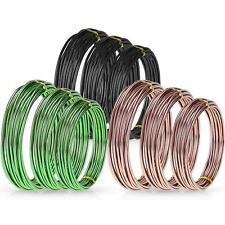Zhanmai 9 Rolls Bonsai Wires Anodized Aluminum Bonsai Training Wire with 3 Color