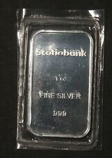 "SCOTIABANK 1 OZ .999 PURE SILVER BAR ""SEALED""    LOT 110656"