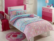 Sale Kids Girls Birdcage Quilt Doona Cover Pillowcase Set Single Bed Owls Duvet