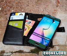 Genuine Mossimo Samsung Galaxy S6 Edge Mag Latch wallet case leather Black cover