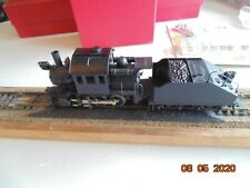 Mantua 0-4-0 Goat steam locomotive with tender undecorated.