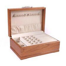 Sophistication Jewelry Box Case Chest English Walnut finish Solid Cherry Wood