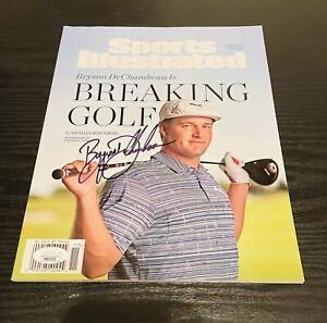 Bryson DeChambeau Autographed Sports Illustrated Magazine PGA Tour/ JSA