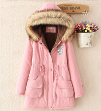 UK SELLER Hot-Ladies Womens Jacket Hooded Winter Top Parker Parka Long Coat
