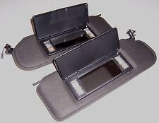1997 - 2004 C5 Corvette Sunvisors with Vanity Mirror, Black, Pair,US Made