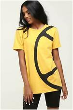 New Women's Ellesse Ellesse Women's Pierino Tee Yellow/black Tops Tshirt Shirt T