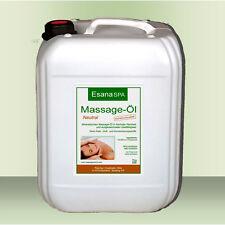 Esana SPA Massageöl, 5 Liter, neutral, für Wellness & Therapie in med. Qualität
