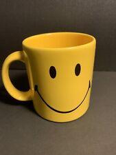 Yellow Smiley Face Coffee Mug  12oz Waechtersbach Germany New