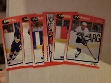 1991 Score Set of 6 NHL Hockey Promo Canadian Bilingual Cards Wayne Gretzky