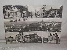 Vecchia cartolina foto d epoca di Jesi panorama piazza Palazzo Signoria arco