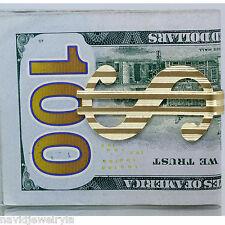 14k Yellow Gold Money Clip strip design Luxury Men's gift