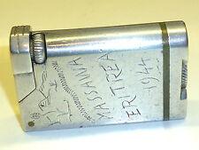 VINTAGE SOLID ALUMINIUM POCKET LIFTARM WICK LIGHTER - WWII (1939-1945) - NICE
