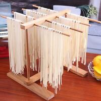 Pasta Drying Rack Natural Elm Collapsible Wooden Italian Food Noodle Stand