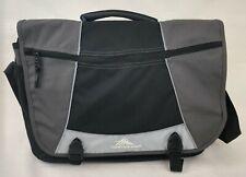 High Sierra Tank Messenger Bag Laptop Black Gray Duralite Compartments