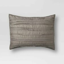 ONE Threshold Raw Edge Quilted Gray 100% Cotton STANDARD Pillow Sham