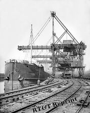 Photograph Steamship Constitution at the Cleveland Brown Ore Loader 1909c 8x10
