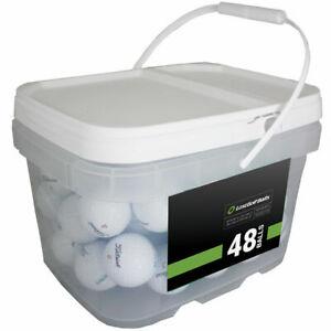 48 Titleist ProV1x 2019 Near Mint Quality Used Golf Balls AAAA In a Free Bucket!