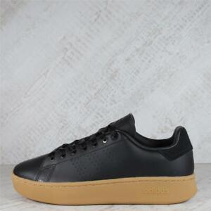 Womens Adidas Advantage Bold Black/Gum Trainers (47C17) RRP £69.99